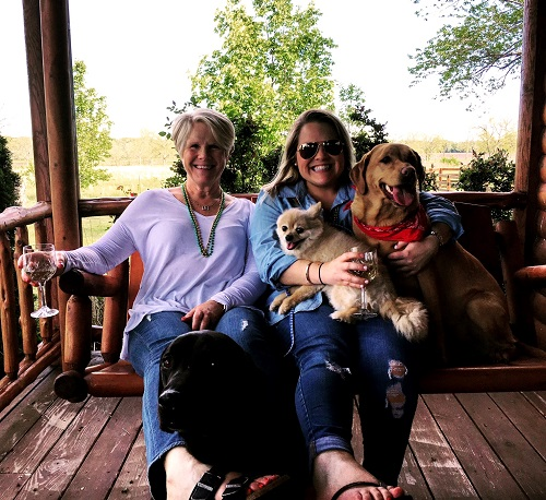 Mom, Cat, and the Dogs